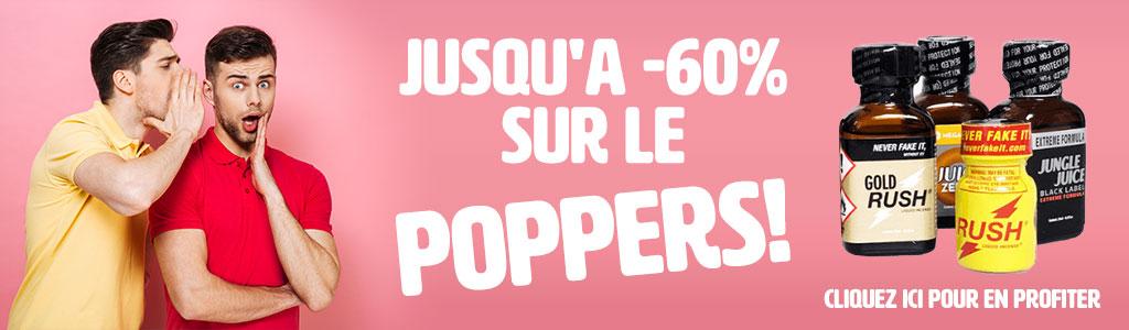 Jusqu'à -60% sur le poppers !