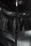 Veste sans Manches en Faux Cuir Noir Handmade Stronger Rawhide