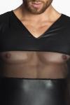 Tee Shirt Homme en Tulle et Wetlook Noir Handmade Stronger Peck