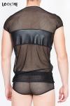 T-Shirt Résille Transparente LookMe Thunder