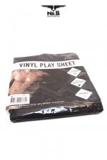 Drap de protection Vinyl Play Sheet  - Drap Vinyle étanche et solide  pour vos pratiques amoureuses accompagnées de gels, huiles, et autres liquides.