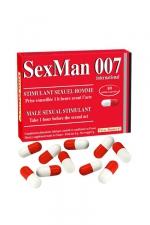 10 Gélules Aphrodisiaque SexMan 007 - 10 gélules aphrodisiaques pour hommes à base d'ingrédients naturels pour retrouver forme, équilibre et une endurance sexuelle de jeune homme