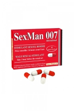 4 Gélules Aphrodisiaque Homme SexMan 007 - 4 gélules aphrodisiaques pour hommes, pour accroître ses performances sexuelles, son énergie et sa virilité. Bandez comme un ado !