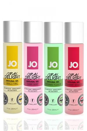 Gel stimulant Jo Oral Delight - 30 ml - Gel érotique stimulant avec effet rafraichissant, idéal pour le plaisir oral et les préliminaires.
