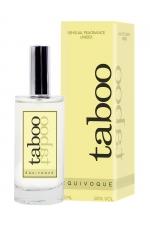 Parfum Aphrodisiaque Unisexe Taboo Equivoque : Eau de toilette unisexe aphrodisiaque pour exciter votre homme. Il mélange des senteurs d'ambre, de fruits (pomme et agrumes) et d'Hespérides. Fabriqué en France à Grasse par Ruf.