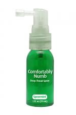 Spray pour Gorge Profonde Menthe Verte : Réussissez votre fellation et avalez intégralement un sexe énorme avec ce spray pour gorge profonde parfum menthe verte. Il lubrifie et anesthésie le fond de la gorge, supprime le réflexe nauséeux de rejet de la verge en érection.