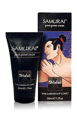 Samurai Penis power Cream - Cette crème aphrodisiaque augmente l'irrigation sanguine et renforce votre virilité. Avec Samurai Penis Power Cream de Shiatsu, soyez un guerrier du sexe qui bande dur & bien. Performance garantie.