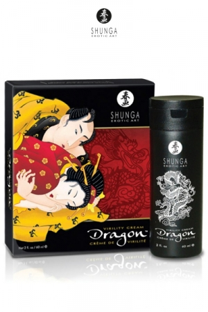 Crème Aphrodisiaque Retardante Dragon Shunga - Cette crème naturelle décuple votre érection, retarde l'éjaculation de 30 à 45 minutes et intensifie le plaisir de votre partenaire à chaque aller et retour. A base d'ingrédients naturels & de plantes.
