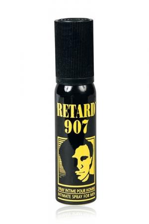 Spray Retardant Retard 907 - Spray avec effet retardant à pulvériser sur votre verge avant de faire l'amour. Ses agents vont désensibiliser votre gland, vous êtes moins excités et éjaculez plus lentement. Idéal pour les éjaculateurs précoces et ceux qui veulent faire durer le plaisir.