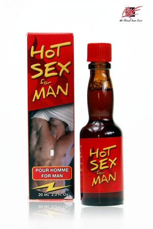 Hot Sex for Men - Boisson aphrodisiaque �nergisante pour homme, compos� d'extraits de sarriette er de canelle. Versez en quelques gouttes pour obtenir une pleine forme sexuelle et pimenter votre vie �rotiques quotidienne.