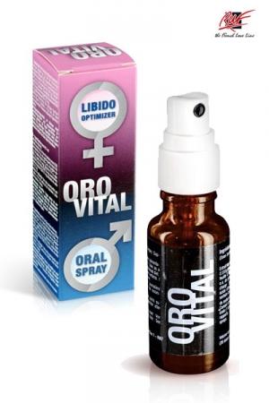 Spray Stimulant Aphrodisiaque Orovital - Orovital, un aphrodisiaque en spray à base d'ingrédients naturels, c'est plus pratique ! Il est composé de gingembre, sariette et de menthe poivrée. Une pulvérisation orale par jour pour renforcer votre libido.