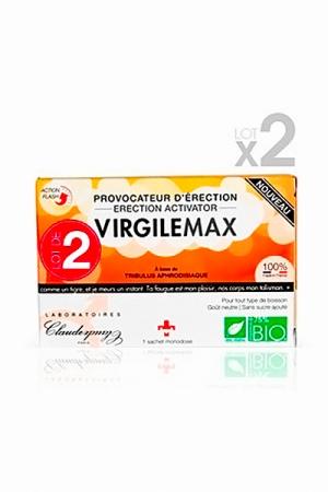 VirgileMax - Provocateur d'érection - boite de 2 - Virgile Max est un aphrodisiaque naturel fabriqué en France, à base d'ingrédients biologiques. Il regonfle la libido, vous permet de bander plus dur, plus longtemps et de récupérer plus vite.