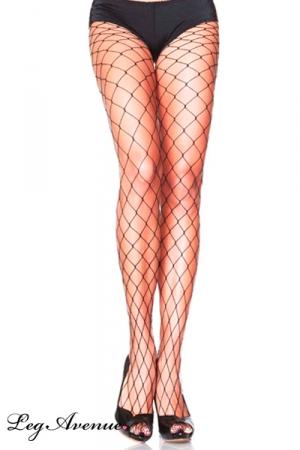 Collants Filet à Larges Mailles pour Travesti - Paire de collants filet à larges mailles pour travesti : un collant classique par Leg Avenue