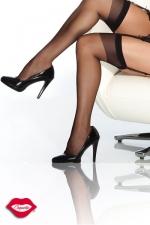 Bas en Nylon Grande Taille Coquette - Bas nylon grande taille jusqu'au 46, une pièce classique mais indémodable, à porter avec ou sans porte jarretelles. Disponible en chair, noir, blanc ou rouge.