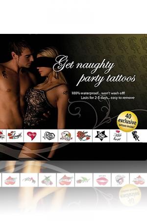 Tatouages Plan Coquin pour Travesti - 40 tatouages coquins temporaires par Adult Body Art pour lui dire ou vous embrasser et comment vous faire l'amour