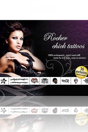 Tatouages Travesti Rocker Chick - 36 tatouages exclusifs ambiance rock'n'roll pour un travesti qui aime le cuir et le sexe !