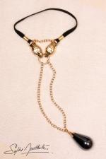 Gouttes sacrées Serpent - Or - Bijou intime pour Homme plaqué Or, têtes de Serpents et pendentif goutte.