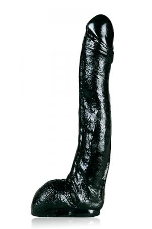 Grand gode realistic noir - Un gode  All Black  de taille plus qu'honorable pour un réalistic.