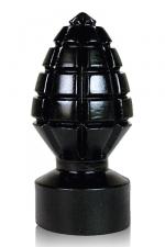 Grenade noire crantée - Gode noir grenade crantée de 14 cm de long par 6,5 cm de large. Un godemichet design pour homme fabriqué en silicone jelly par Belgo Prism. Pour des sensations explosives!