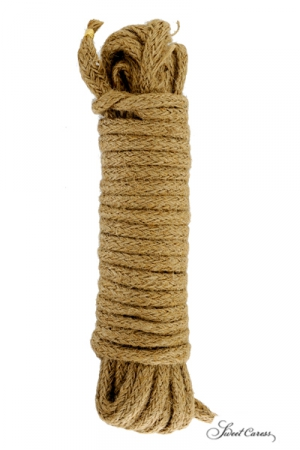 Corde de Bondage 10 Mètres en Chanvre - Corde de bondage de 10 mètres en chanvre pour le bondage, les jeux gays SM, le shibari ou pour attacher ou ligoter ce que vous voulez. Longueur, 10 mètres, diamètre 1 cm. Corde grande et solide.