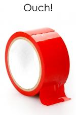 Ruban de Bondage Rouge en PVC 20 Mètres - Ruban de bondage rouge en PVC solide de 20 mètres de long pour 5 cm de large. Parfait pour immobilisation, momification, contrainte, il ne colle qu'avec lui même. Pour du BDSM gay. Conçu par Ouch !