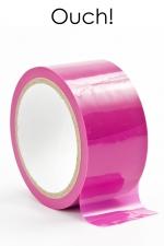 Ruban de Bondage en PVC Rose 20 Mètres - Ce ruban de bondage rose en PVC fait 20 mètres par 5 cm. Idéal pour immobiliser ou faire taire le soumis, il ne colle qu'avec lui-même et épargne les cheveux, la peau et les vêtements. Fabriqué par Ouch !
