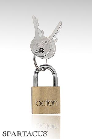 Cadenas Brass Padlock - Cadenas simple adapté aux anneaux de bondage, fourni avec 2 clés. Vendu à l'unité.