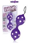 Boules de Geisha Duo Balls - Boules de Geisha avec relief excitant en jelly et billes internes en métal pour accroître votre excitation et stimuler votre anus. Sans phtalates, ces balles anales sont jouissives à porter.
