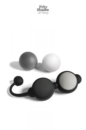 Coffret boules Kegel - Fifty Shades of Grey - Un coffret de boules de geisha comprenant 4 boules silicone � poids pour la tonicit� intime et le plaisir sexuel.