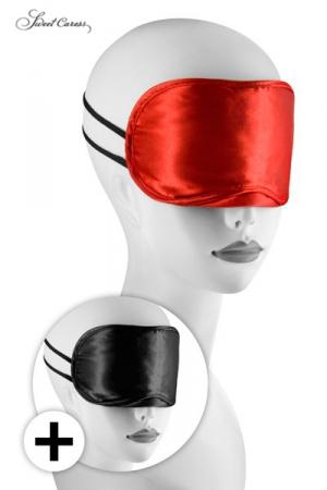 2 Masques Bandeaux Love Masks - 2 masques bandeaux Love Masks pour aveugler votre partenaire et exacerber ses sensations. Pour jeux gays softs ou BDSM. Fabriqué dans un tissu molletonné très confortable. Maintien par 2 élastiques. Sert aussi pour dormir.