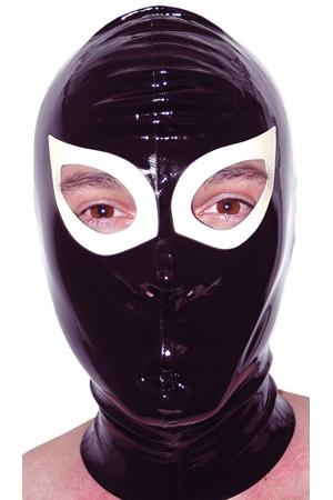 Cagoule latex Gag - Cagoule en latex Honour haute qualité. Elle possède des orifices pour les yeux et les narines. Bien ajustée, elle étouffe la voix du soumis.