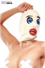 Cagoule latex Scared Straight - La cagoule BDSM pour jouer aux vierges effarouchées!