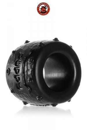 Oxballs Pup-Balls Ballstretcher et Cockring - A la fois ballstretcher et cockring, super doux et malléable, fabriqué en silicone pure platinum, ce sextoy ressemble à un petit collier clouté.