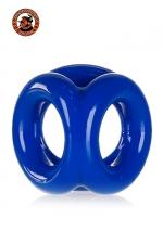 Cocksling Bleu Oxballs Tri-Sport - Cockring bleu triple ou cocksling Oxballs tri sport vous procure un plaisir extrême pendant l'amour et la masturbation. Fabriqué en Flex TPR hyper extensible, ses 3 anneaux enserrent confortablement vos bourses, votre verge et sa racine.