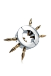 Ball Stretcher with Brass Spikes - Un superbe Ball-stretcher de 400 g, traversé de pointes en laiton, idéal pour la contrainte et l'exhibe.