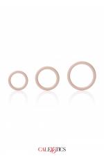 Pack 3 anneaux Silicone - Calexotics - Pack de 3 anneaux en silicone, extensibles et robustes, diamètre 3,25 / 3,5 / 4,5 cm, pour toute utilisation, par Calexotics.