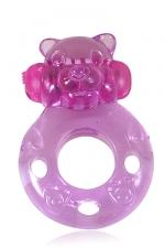 Power Ring Bear Gay Anneau Vibrant pour Pénis : Un anneau vibrant en forme de tête d'ours très mignon à enfiler sur le sexe pour faire monter le plaisir des deux partenaires pendant le sexe gay.
