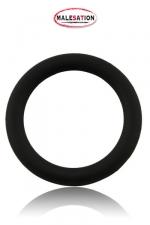 Cock-Ring  Silicone - Malesation - Cockring noir haute qualité en silicone disponible dans un diamètre de 4 cm, 4,5 cm et 5 cm.