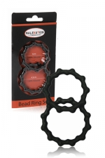 Set 2 cockrings  Bead Ring - Malesation - jeu de 2 cockring avec relief perl� pour plus de sensations tout en sublimant l'�rection.
