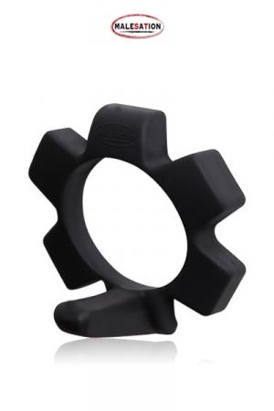 Cockring avec Ergot Malesation Funny Ring - Un anneau de pénis avec ergot à placer sous la verge pour la maintenir droite pendant l'érection. Fabriqué en silicone doux, sans odeur ni phtalate, ce cockring vous assure de bander solidement.