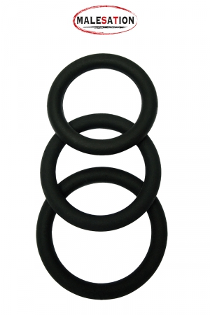 Pack 3 Cockrings Malesation en Silicone