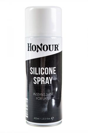 Silicone en Spray pour Entretien du Latex 400 ml - Spray à base de silicone pour faire briller vos vêtements en latex. Il est fabriqué par Honour.