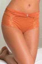 Culotte Haute Sissy Aimée L Lili Chérie Cognac - Culotte haute pour sissy sexy, confortable et élégante. Petit noeud et bijou strass sur le devant. Fabriqué par Aimée L. en voile et orné de dentelle sur les hanches. Une lingerie féminine et sensuelle qui cache votre clito.