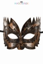 Masque semi-rigide cuivré Don Giovanni - Masque cuivré semi rigide et haut pour jouer les Don Juan en toute discrétion, par Maskarade.