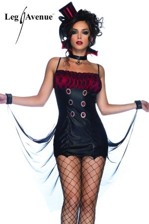 Costume Travesti Vampirella - Vampirella, un costume de démon pour travesti pour lui sucer le sang et le mettre à vos pieds !
