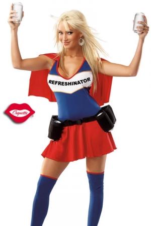 Costume Travesti Refreshinator - Refreshinator, le super travesti qui a le pouvoir de servir des canettes toujours bien fraîches grâce à son super costume !