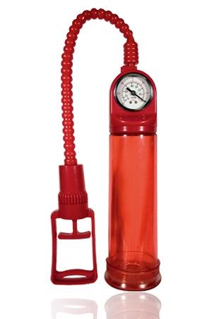 Penis Developpeur ToyJoy - Penis developpeur expert de ToyJoy en version rouge : avec cette pompe a bite, accroissez la taille de votre sexe.