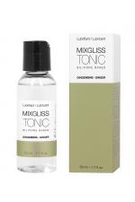 Lubrifiant Silicone Aphrodisiaque au Gingembre Mixgliss Tonic 50 ml : Lubrifiant aphrodisiaque parfumé au gingembre, à base de silicone, de qualité cosmétique. Sert aussi pour le massage. Un gel Mixgliss avec bouchon verseur.