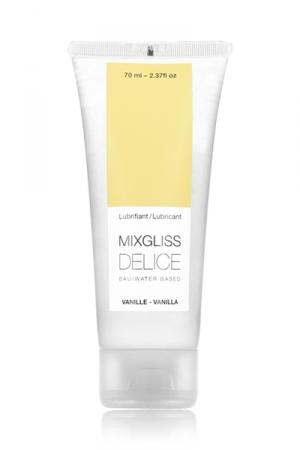 Lubrifiant Mixgliss Délice Parfum Vanille 70ml - Gel à la vanille pour gay pas sage. Fabriqué en France et proposé dans un tube à dosage facile de 70 ml