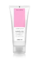 Mixgliss eau - Sweet Bubble Gum 70ml - Lubrifiant intime à base d'eau à la fragrance pétillante de bubble gum.